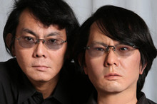 Prof. Dr. Hiroshi Ishiguro (left) is known for his robot doppelgänger (right). Photo: Osaka University