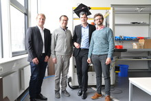 Johannes Wienke successfully completed his dissertation. Photo: CITEC/Bielefeld University